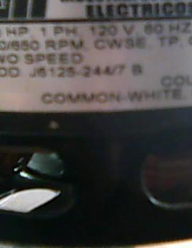 MOTOR 1/8 HP 120V 2 VELOCIDADES