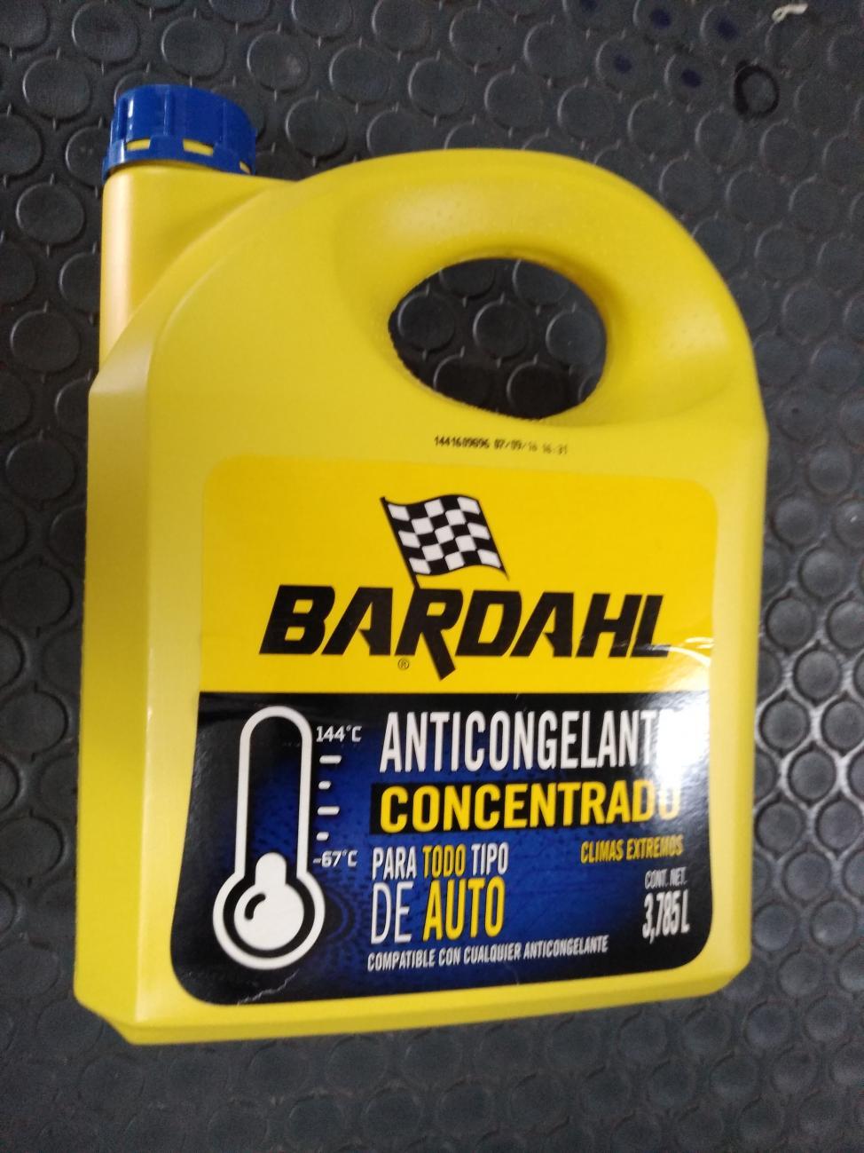 7501087542030 Liquido Anticongelante Concentrado Bardahl 3.785 L